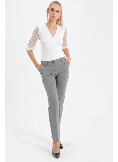 Jument Barcelona Yüksek Bel Cepli Boru Paça Pantolon Renkli